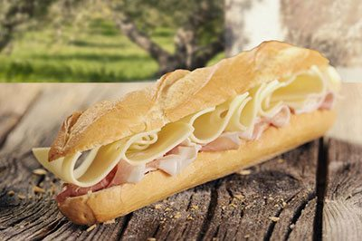 Grilled Ham & Cheese Baguette