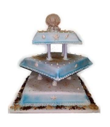 Wedding Cake - 3 Tier with Pillars