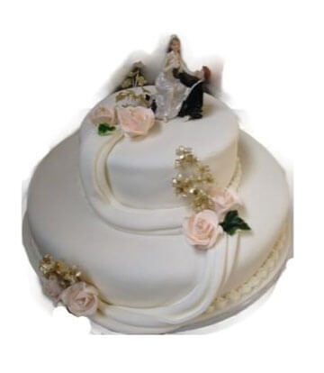 Wedding Cake - 2 Tier Round